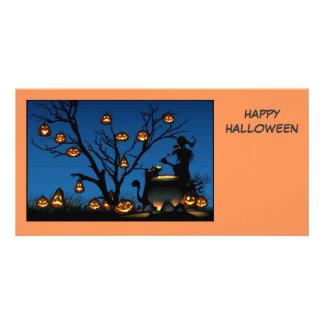 Cartão com fotos feliz do Dia das Bruxas Cartão Com Foto