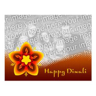 cartão com fotos feliz do diwali