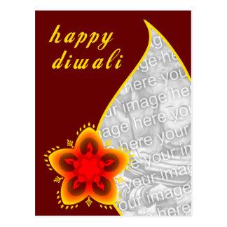 cartão com fotos feliz do diwali: janela clara
