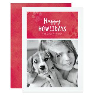 Cartão com fotos feliz do feriado de Howlidays Convite 12.7 X 17.78cm