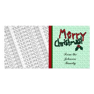 Cartão com fotos, Feliz Natal, modelo bonito da fo