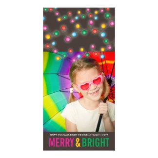 Cartão com fotos festivo colorido do feriado do