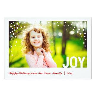 Cartão com fotos festivo Groupon da alegria boas Convite