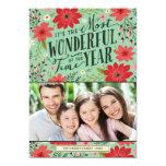 Cartão com fotos floral do feriado convites