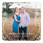 Cartão com fotos floral doce do feriado convite personalizados