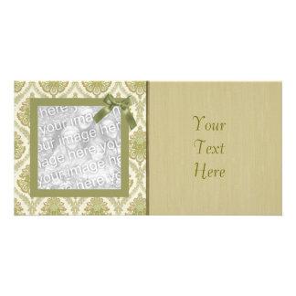 Cartão com fotos Funky do papel de parede do vinta
