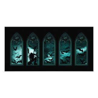Cartão com fotos gótico de Windows do bastão Cartão Com Foto