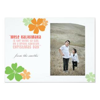 Cartão com fotos havaiano do feriado do Natal Convite 12.7 X 17.78cm