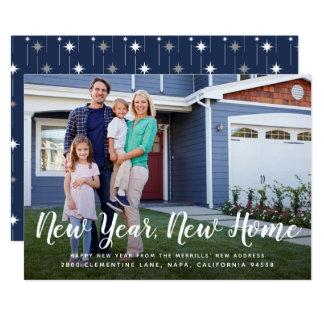 Cartão com fotos Home novo brilhante do ano novo