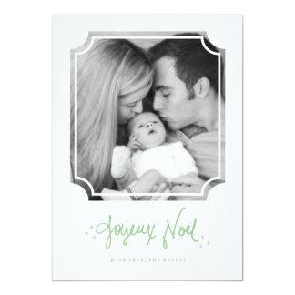 Cartão com fotos indicado por letras do feriado de convite personalizados