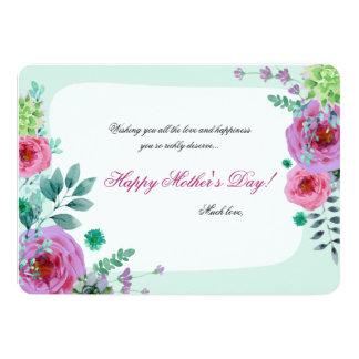 Cartão com fotos liso do dia das mães da