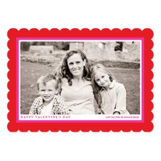Cartão com fotos liso do dia dos namorados convite 12.7 x 17.78cm
