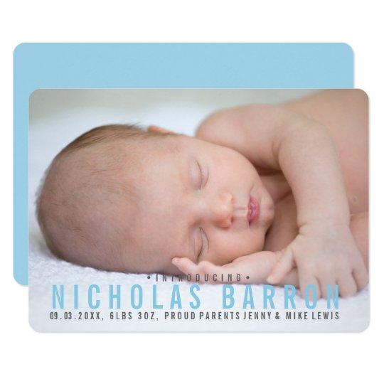 Cartão com fotos liso elegante do anúncio do convite 12.7 x 17.78cm
