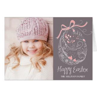 Cartão com fotos lunático do felz pascoa do ovo da