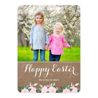 Cartão com fotos macio da páscoa de serapilheira | convite 12.7 x 17.78cm