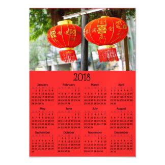 Cartão com fotos magnético chinês do calendário do
