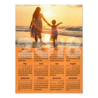 Cartão com fotos magnético personalizado de 2018