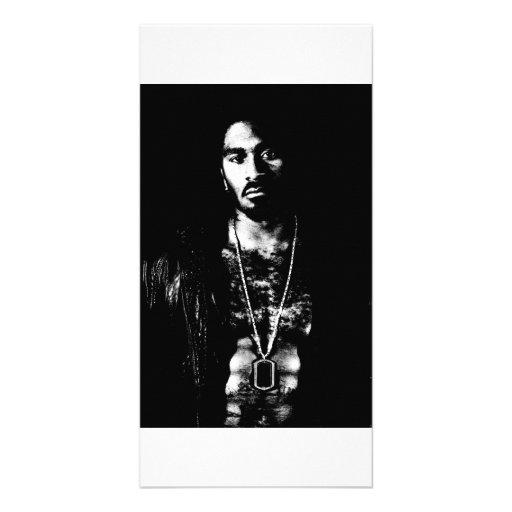 Cartão com fotos masculino preto e branco