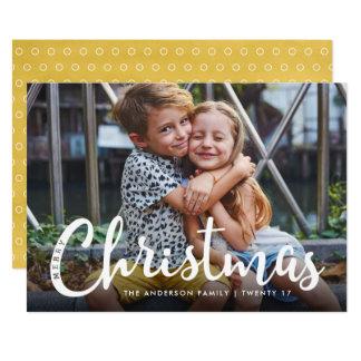 Cartão com fotos moderno bonito do Feliz Natal