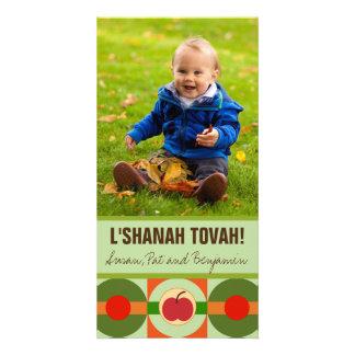 Cartão com fotos moderno de Apple Rosh Hashanah