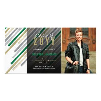 Cartão com fotos moderno do anúncio da graduação