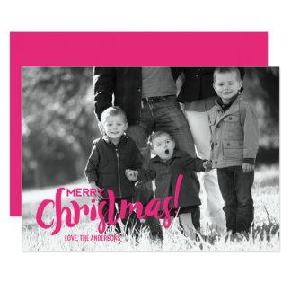 Cartão com fotos moderno do Feliz Natal do roteiro