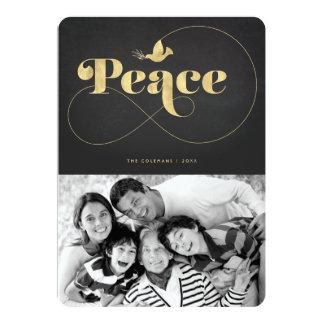 Cartão com fotos moderno do feriado da pomba calma convite 12.7 x 17.78cm