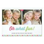 Cartão com fotos moderno do feriado das listras | convite