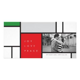 Cartão com fotos moderno do feriado do amor da paz