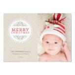 Cartão com fotos moderno do feriado do Feliz Natal Convite Personalizados