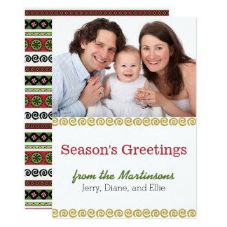 Cartão com fotos moderno do feriado do teste