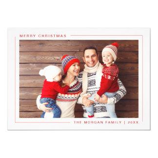 Cartão com fotos moderno simples do Feliz Natal -