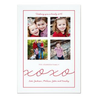 Cartão com fotos múltiplo da família do dia dos convite 12.7 x 17.78cm