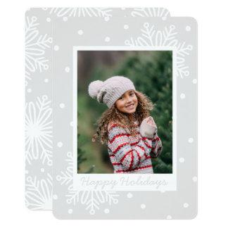 Cartão com fotos nevado do feriado convite 12.7 x 17.78cm
