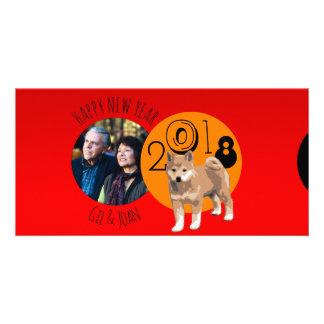 Cartão com fotos novo feliz do quadro do ano 2018