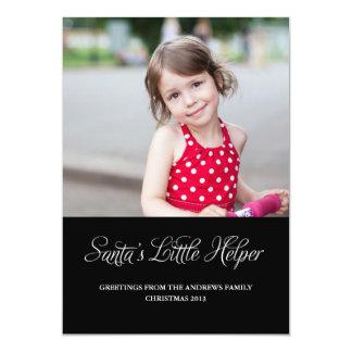 Cartão com fotos pequeno do ajudante do papai noel convite 12.7 x 17.78cm