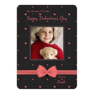 Cartão com fotos pequeno dos namorados convite 12.7 x 17.78cm