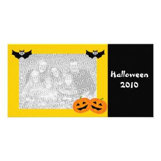 Cartão com fotos personalizado da abóbora do Dia