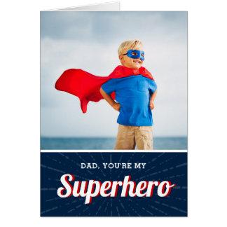 Cartão com fotos personalizado super-herói do dia
