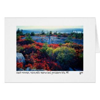 Cartão com fotos preto da montanha