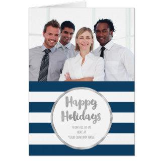 Cartão com fotos preto do negócio do Natal das