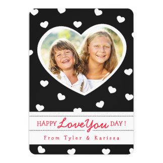 Cartão com fotos/preto dos namorados dos queridos convite 12.7 x 17.78cm