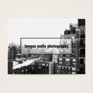 Cartão com fotos profissional do fotógrafo da