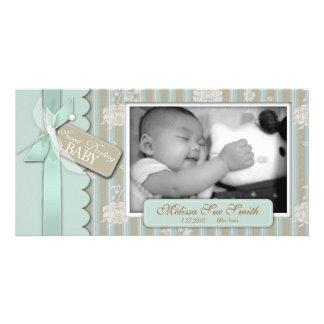Cartão com fotos recém-nascido