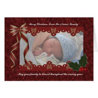 Cartão com fotos religioso do Natal - Natal abenço