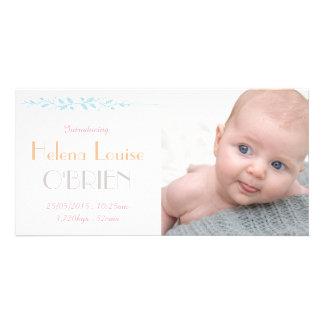 Cartão com fotos retro do anúncio do nascimento do cartão com foto