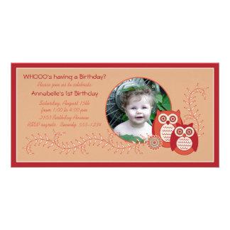 Cartão com fotos retro do primeiro aniversario das