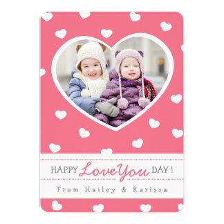 Cartão com fotos/rosa dos namorados dos queridos convite 12.7 x 17.78cm