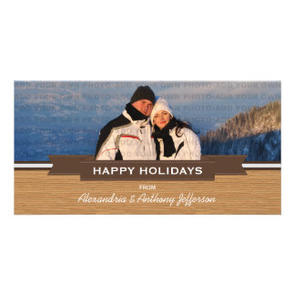 Cartão com fotos rústico do feriado da bandeira do cartão com foto