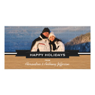 Cartão com fotos rústico do feriado da bandeira do